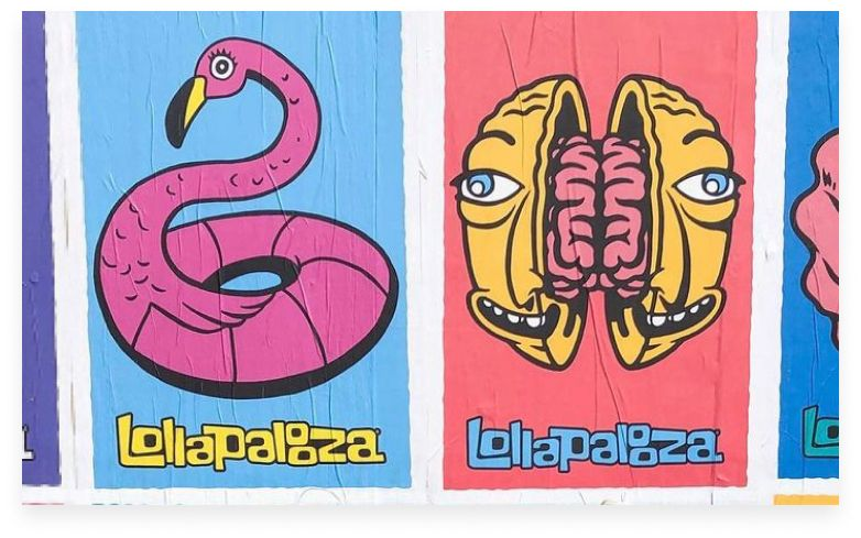 Lollapalooza posters