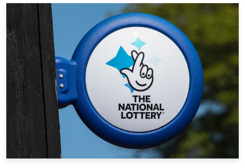 the national lottery sign